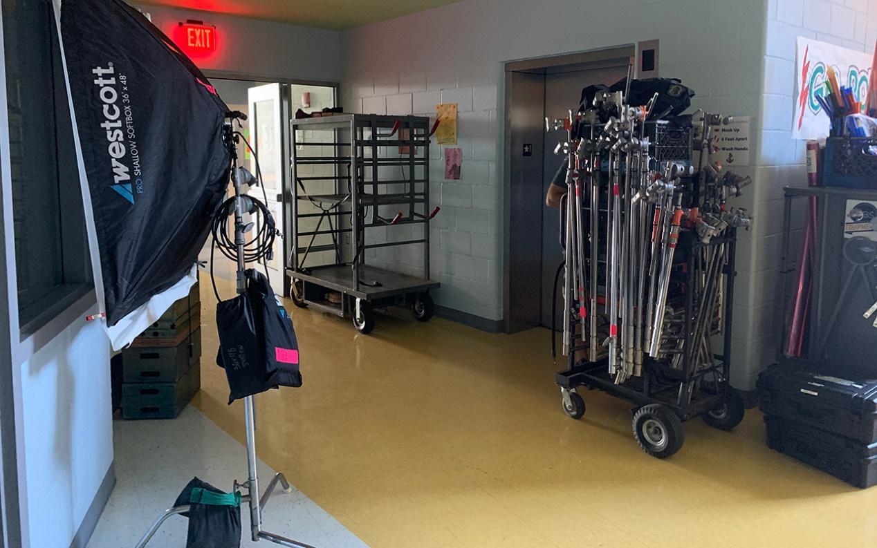 Organizing rented film equipment