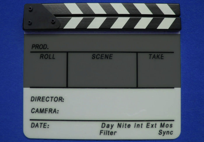 Name Date and Other Sections of Film Slate Clapperboard