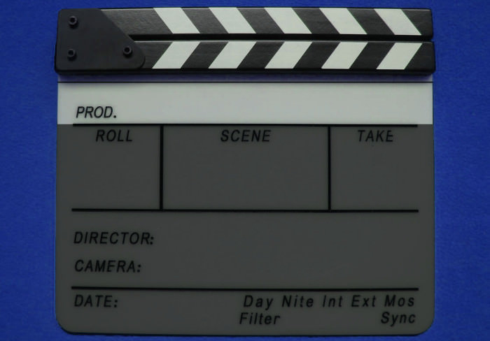 Production Section of a Film Slate Clapperboard