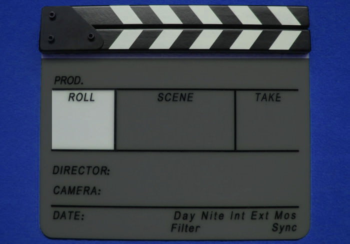 Roll Tape Section of a Film Slate Clapperboard