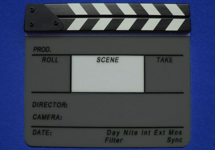 Scene Slate Section of a Film Slate Clapperboard