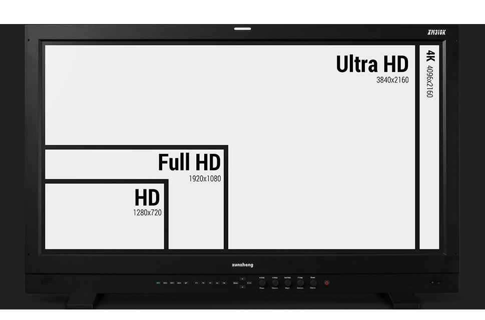 尊正监视器XM310K支持4K分辨率