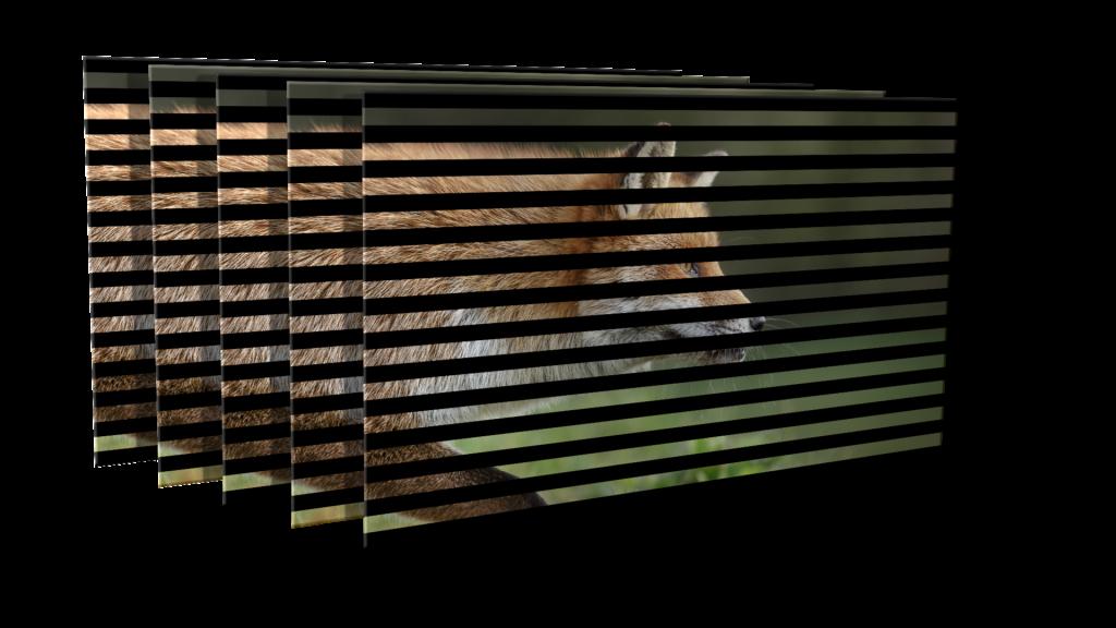 尊正监视器XM310K中的隔行扫描结果