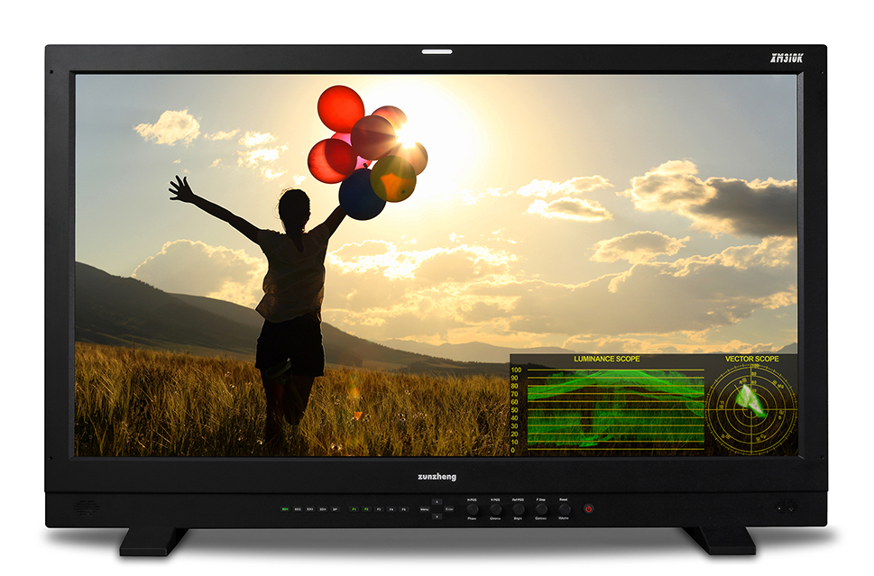 尊正监视器XM310K兼备实时亮度波形和矢量示波器