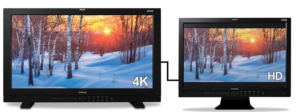 尊正监视器XM311K连接性转换